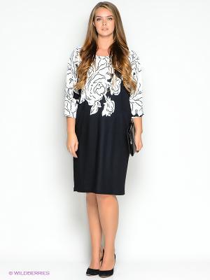 Платье Amelia Lux. Цвет: темно-синий, белый