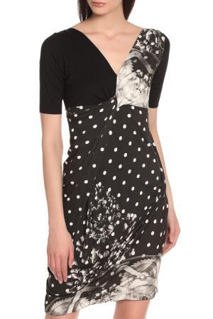 Легкое универсальное платье Oblique. Цвет: черный-белый
