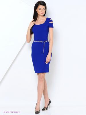 Платье LILA ROSE. Цвет: синий