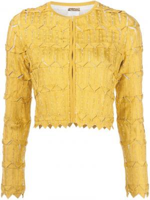 Укороченный пиджак Pepa Pombo. Цвет: белый