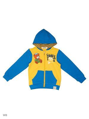 Толстовка с капюшоном Kidly. Цвет: желтый, голубой