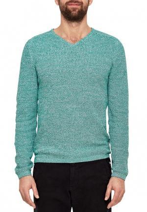 Пуловер s.Oliver. Цвет: зеленый