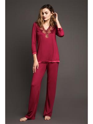 Пижама Laete. Цвет: бордовый