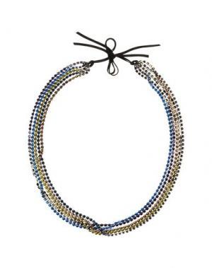 Ожерелье NUR. Цвет: синий