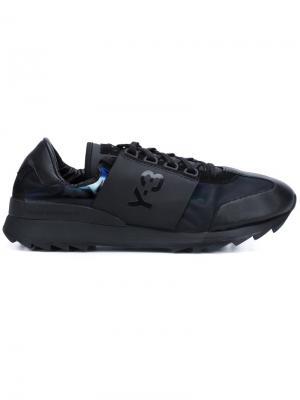 Кроссовки с логотипом сбоку Y-3. Цвет: чёрный