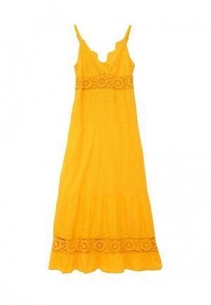 Сарафан Indiano Natural. Цвет: желтый