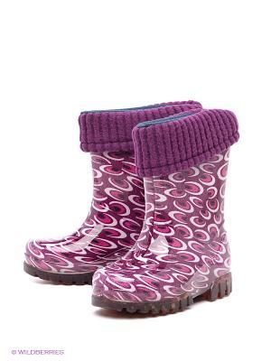 Резиновые сапоги DEMAR. Цвет: фиолетовый, розовый