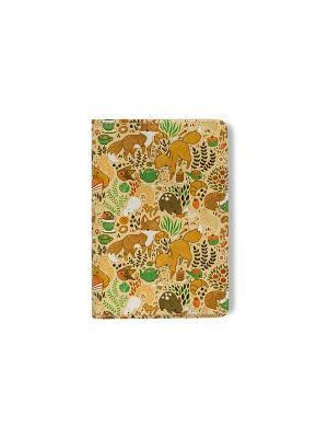 Обложка для паспорта  Чаепитие в лесу TonyFox. Цвет: бежевый, красный, оранжевый, желтый