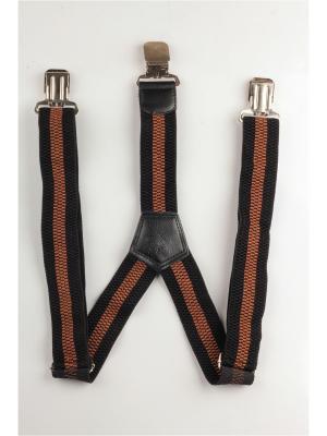 Подтяжки джинсовые INDIVIDUUM. Цвет: черный, коричневый
