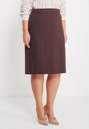 Юбка Bonne Femme. Цвет: коричневый