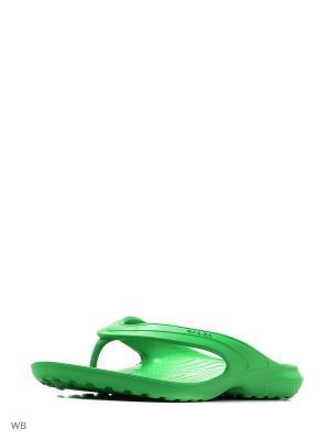 Шлепанцы CROCS. Цвет: зеленый