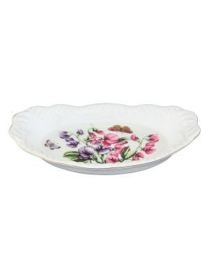 Шпротница Душистый цветок Elan Gallery. Цвет: белый, зеленый, фиолетовый, розовый