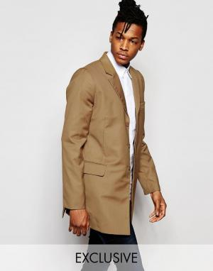 Rogues of London Светло-коричневое пальто Exclusive. Цвет: бежевый