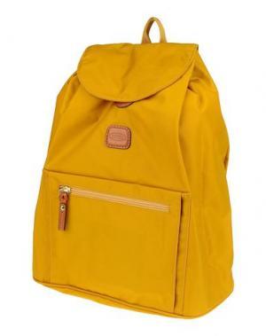 Рюкзаки и сумки на пояс BRIC'S. Цвет: охра
