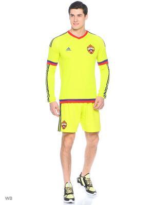 Лонгслив Adidas. Цвет: желтый, синий, красный