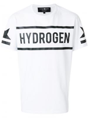 Футболка с принтом-логотипом Hydrogen. Цвет: белый