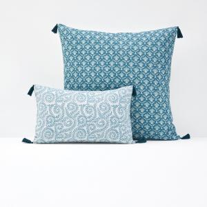 Чехол для подушки или наволочка ODISHA La Redoute Interieurs. Цвет: сине-зеленый/бледно-зеленый