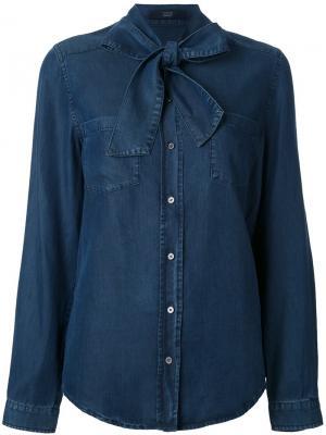 Джинсовая рубашка Steffen Schraut. Цвет: синий
