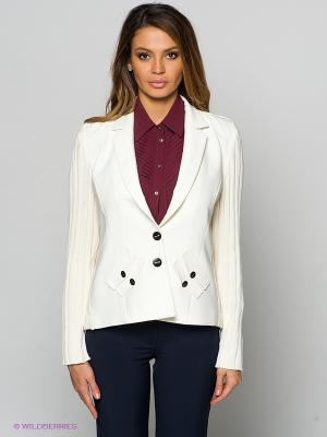 Пиджак FRENCH HINT. Цвет: молочный