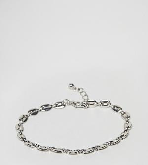 Reclaimed Vintage Серебристый браслет-цепочка Inspired эксклюзивно для. Цвет: серебряный