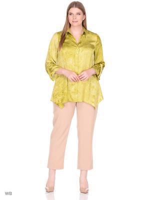 Блузка BERKLINE. Цвет: хаки