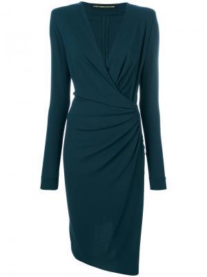 Gathered detail dress Alexandre Vauthier. Цвет: зелёный