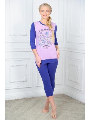 Домашний костюм Mia Cara. Цвет: розовый, темно-синий