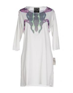 Короткое платье ED 2.0. Цвет: белый