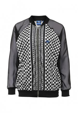 Куртка adidas Originals. Цвет: черно-белый