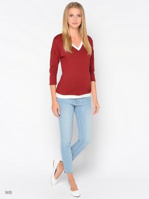 Кофточка Trendy Tummy. Цвет: бордовый, белый
