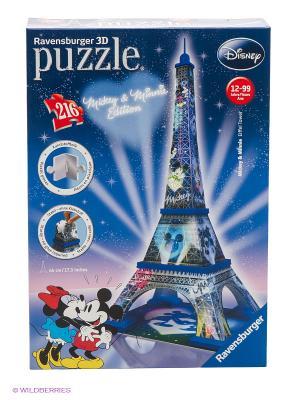 Пазл 3D Микки и Минни - Эйфелева башня, 216 элементов Ravensburger. Цвет: синий