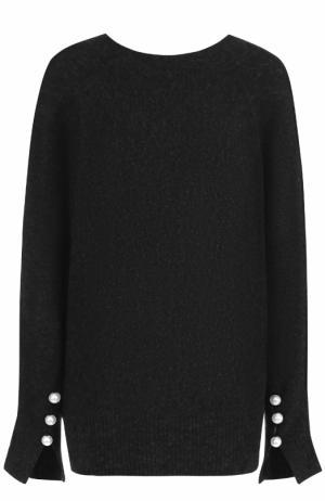 Пуловер свободного кроя с декоративной отделкой 3.1 Phillip Lim. Цвет: темно-серый