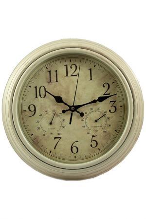 Часы настенные 30х30х5 см Русские подарки. Цвет: белый, коричневый