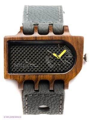 Часы Mistura Umbra Grey Pui Carbon Fiber. Цвет: серый, коричневый
