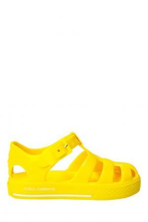 Сандалии Dolce&Gabbana Children. Цвет: желтый