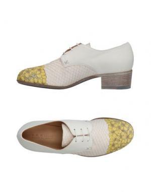 Обувь на шнурках INK. Цвет: белый