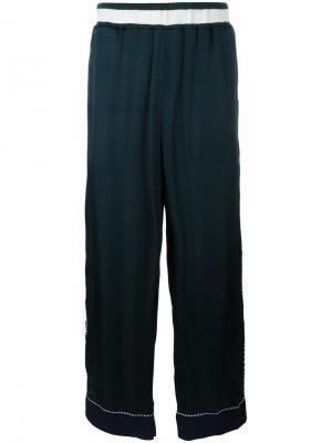 Широкие брюки с вышивкой медведя Facetasm. Цвет: зелёный
