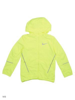 Куртка B NK JKT HD RUN Nike. Цвет: желтый