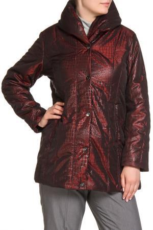Куртка HELENA VERA. Цвет: бордо
