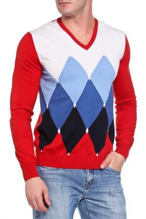 Пуловер Ballantyne. Цвет: бело-сине-красный