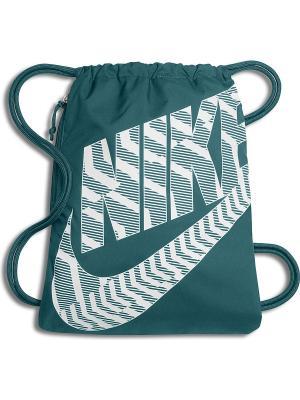 Мешок для обуви NIKE HERITAGE GYMSACK. Цвет: морская волна, бирюзовый