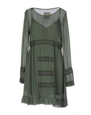 Короткое платье PINK MEMORIES. Цвет: зеленый