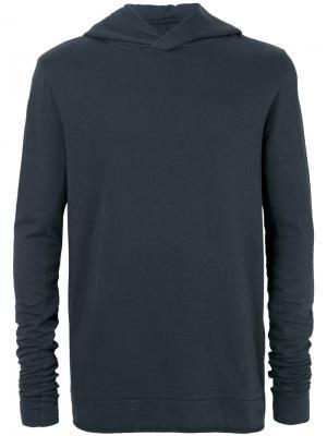 Толстовка узкого кроя с капюшоном Thom Krom. Цвет: синий
