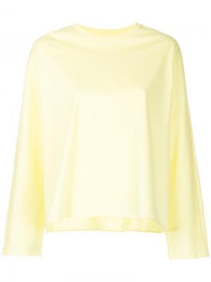 Расклешенная блузка Astraet. Цвет: жёлтый и оранжевый