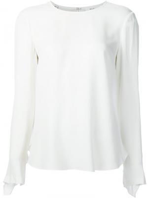 Блузка с оборкой сзади A.L.C.. Цвет: белый