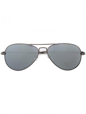 Солнцезащитные очки Christian Koban. Цвет: металлический