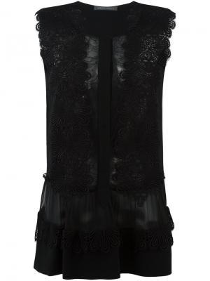 Кружевная блузка Alberta Ferretti. Цвет: чёрный