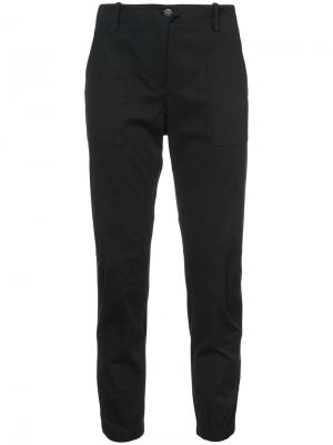 Укороченные брюки Veronica Beard. Цвет: чёрный