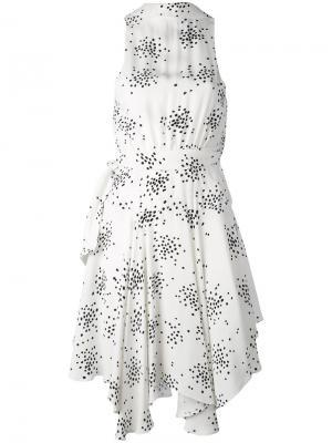 Платье с пятнистым узором C/Meo. Цвет: белый