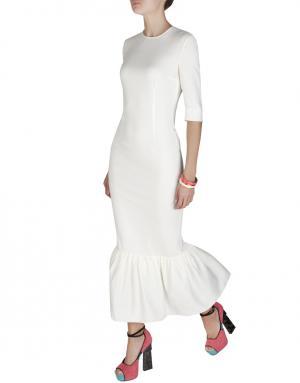 Однотонное платье Alessandra Rich. Цвет: белый